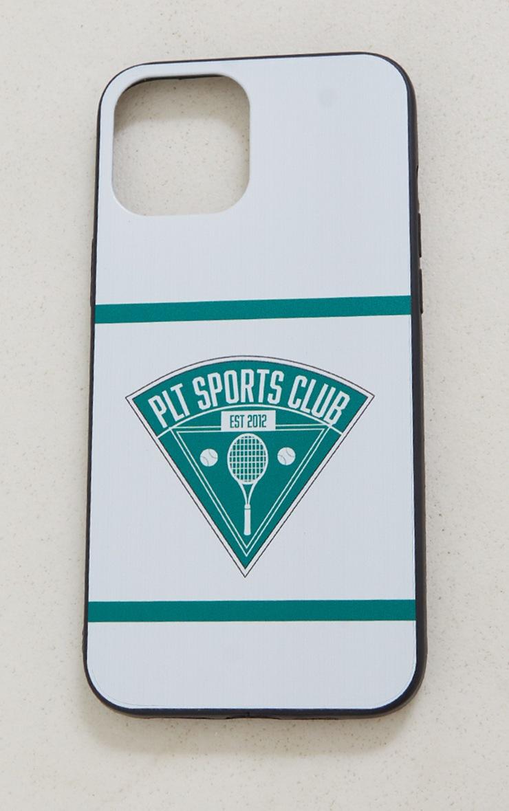 PRETTYLITTLETHING - Coque blanche à imprimé Tennis Club pour iPhone 12 Pro Max 4