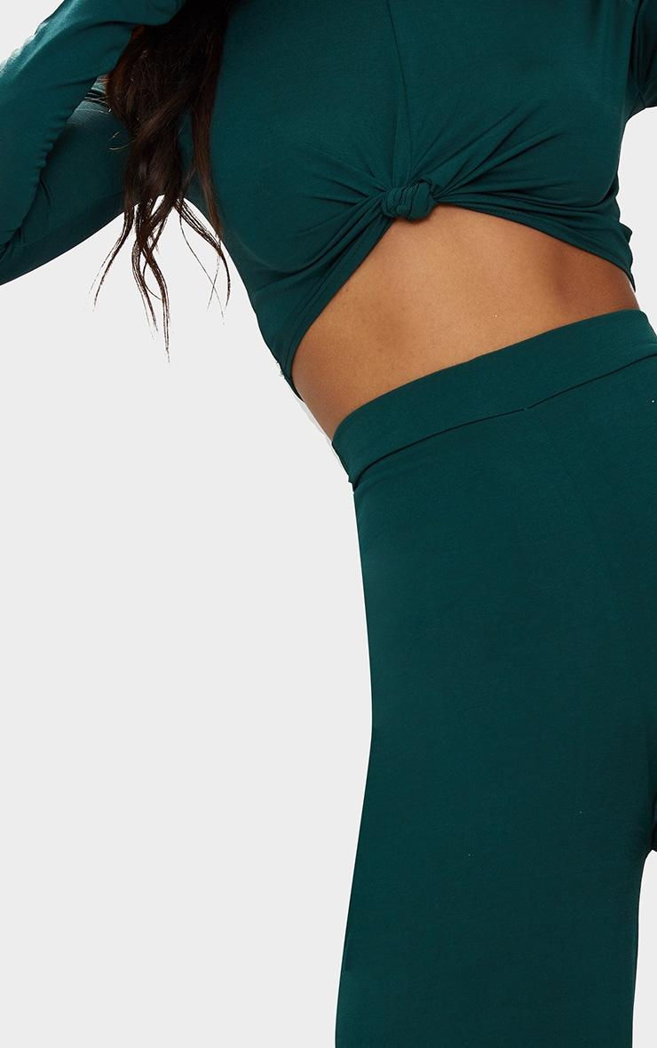 Pantalon vert émeraude à jambes évasées  6