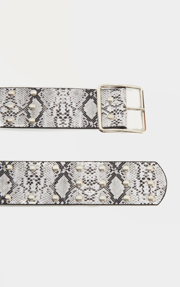 Snake Triple Row Studded Belt 4