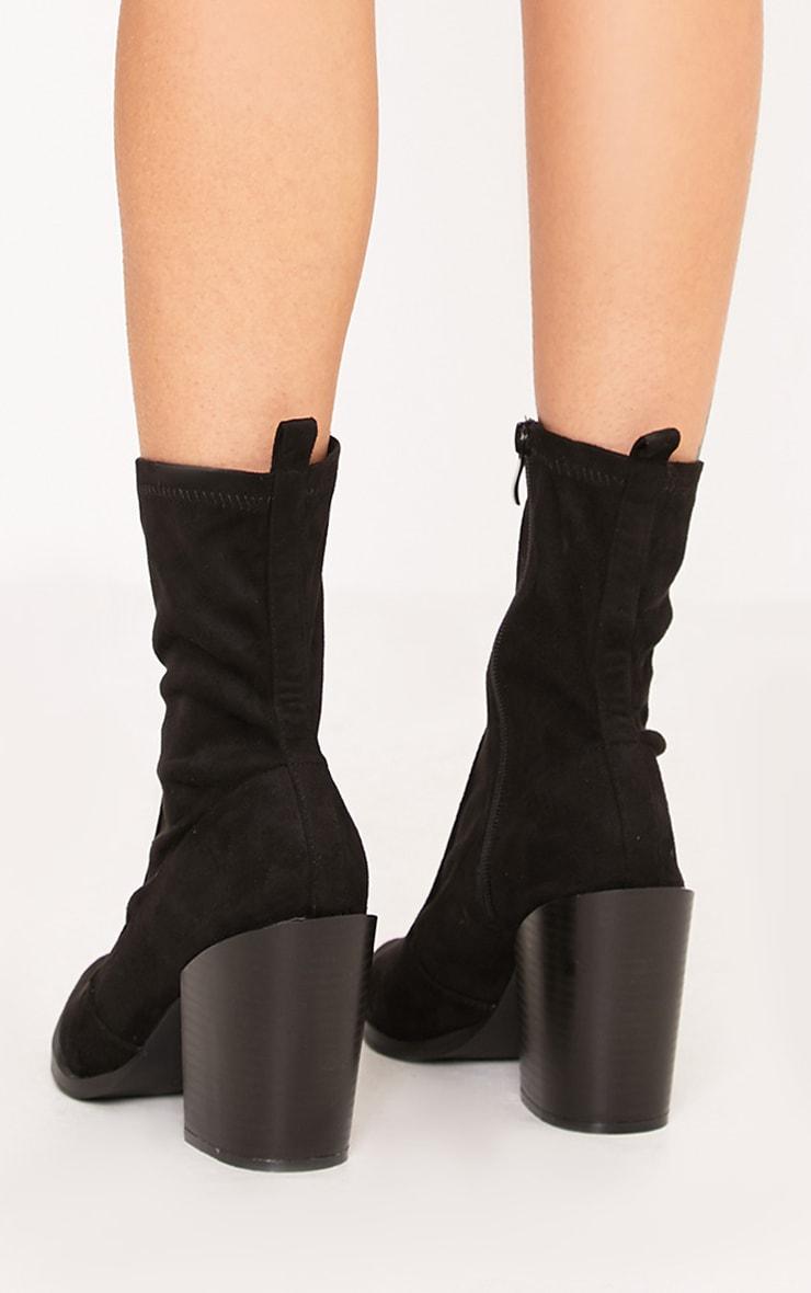 Danica Black Western Sock Boots 4