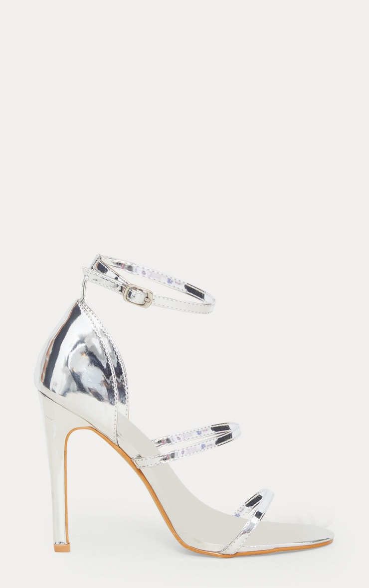 Leyah Silver Multi Strap Heeled Sandals 3