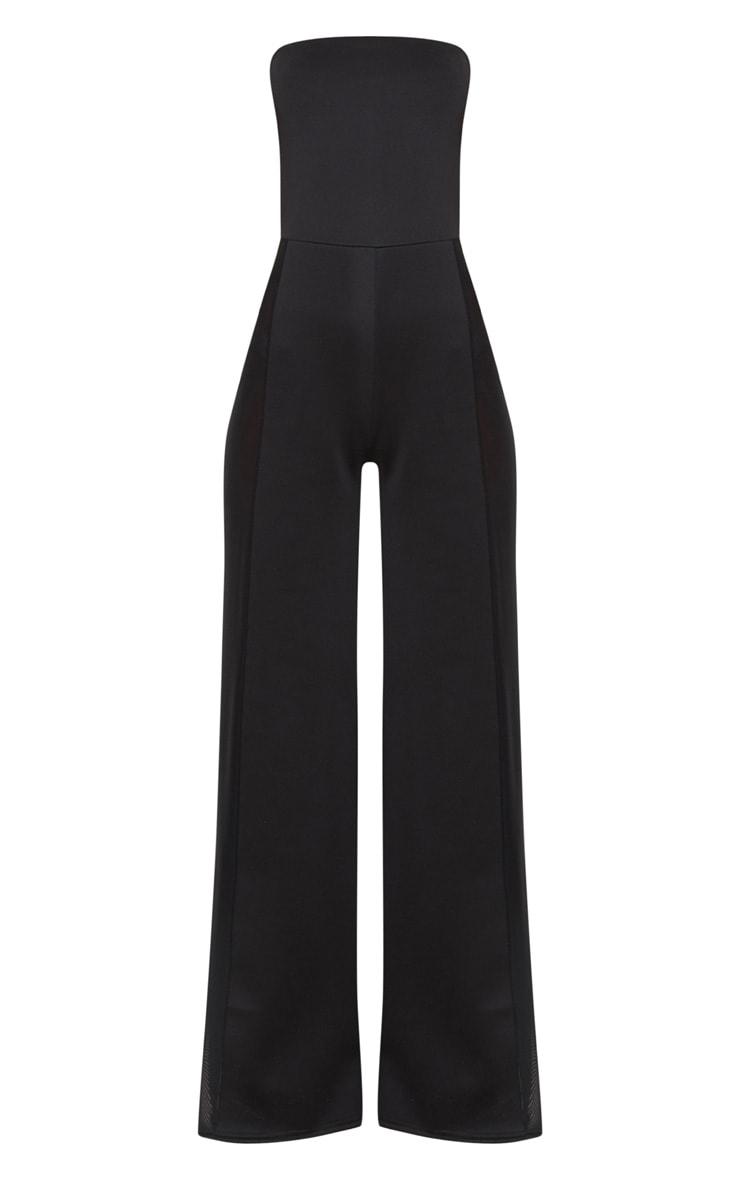 Black Mesh Insert Jumpsuit 3
