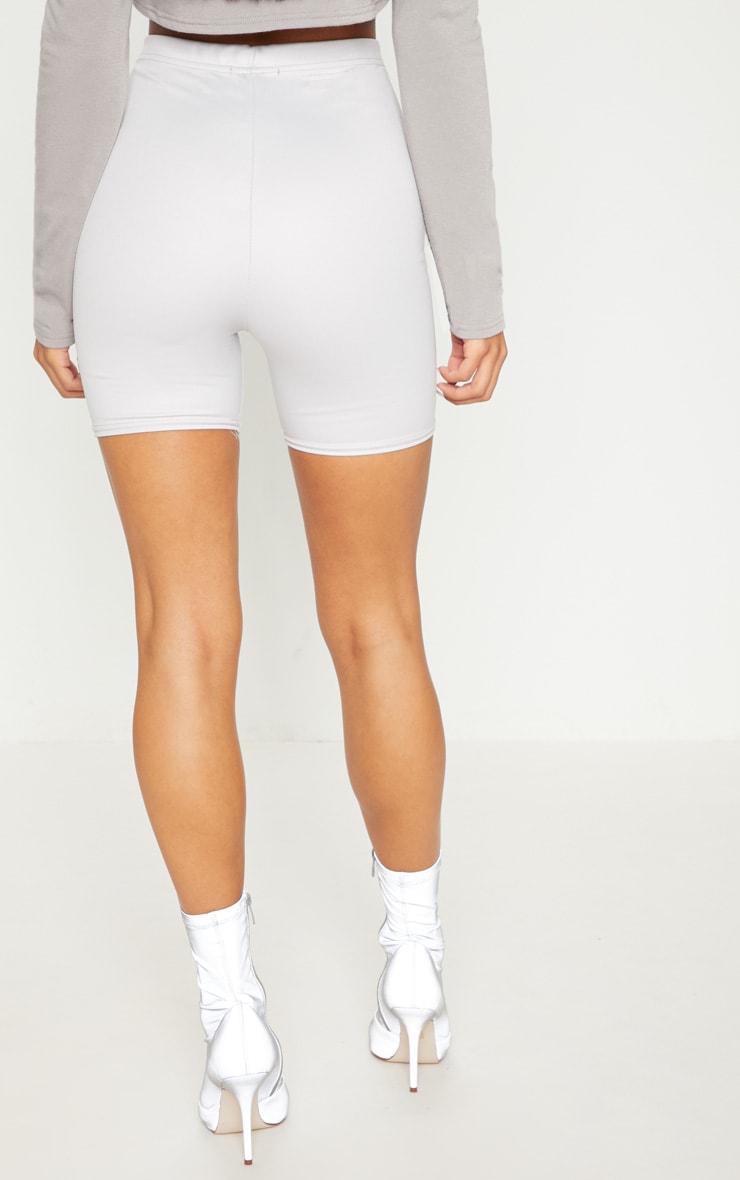 Grey Scuba Wet Look Cycle Short 4