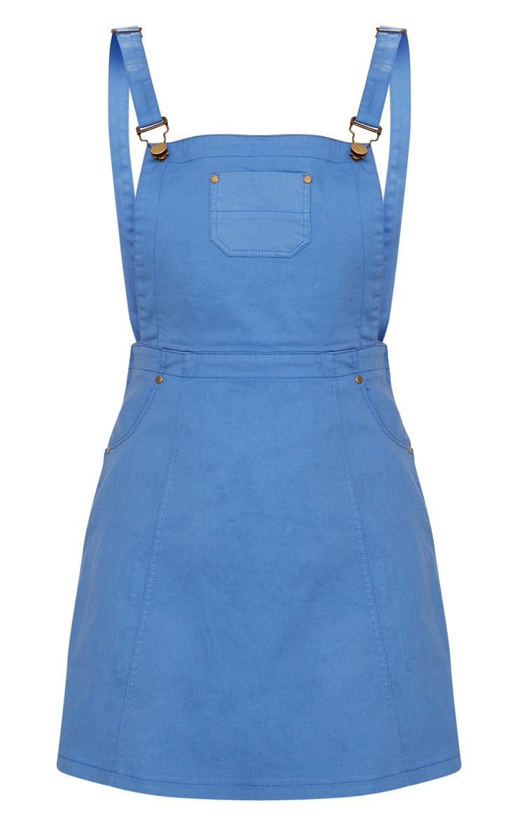 Baby Blue Denim Pinafore Dress 3