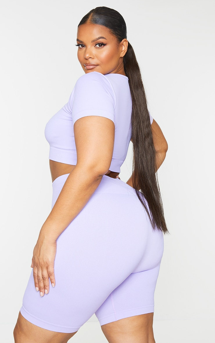 Plus Lilac Seamless T-Shirt 2