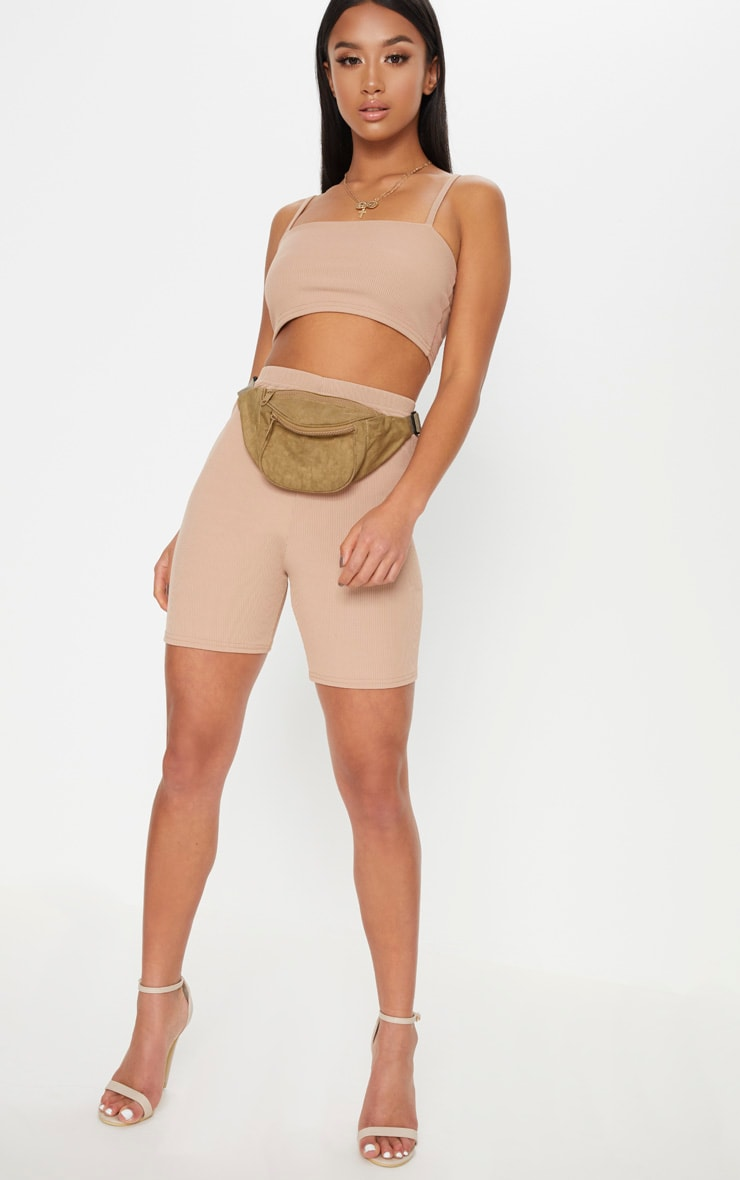 Petite Stone Ribbed Cycling Shorts 5