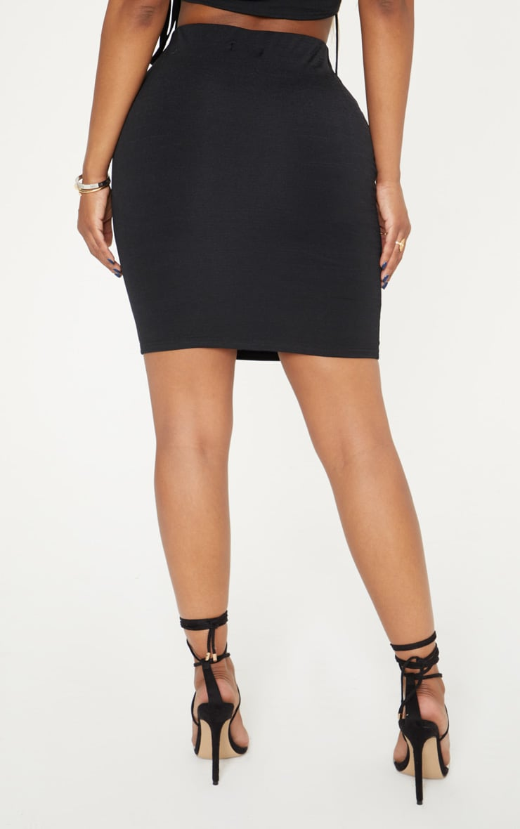 Shape Black Slinky Mini Skirt 4