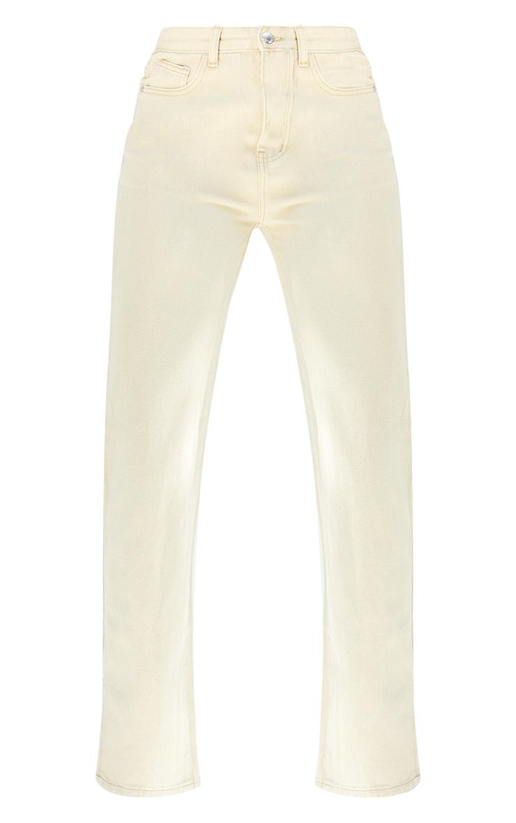 Tall  Stone  Wash Ripped Back Split Hem Jeans 5