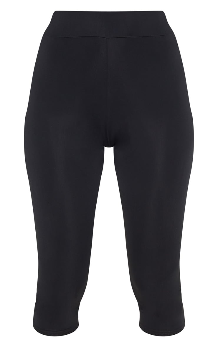 Black Basic Cropped Gym Legging 3