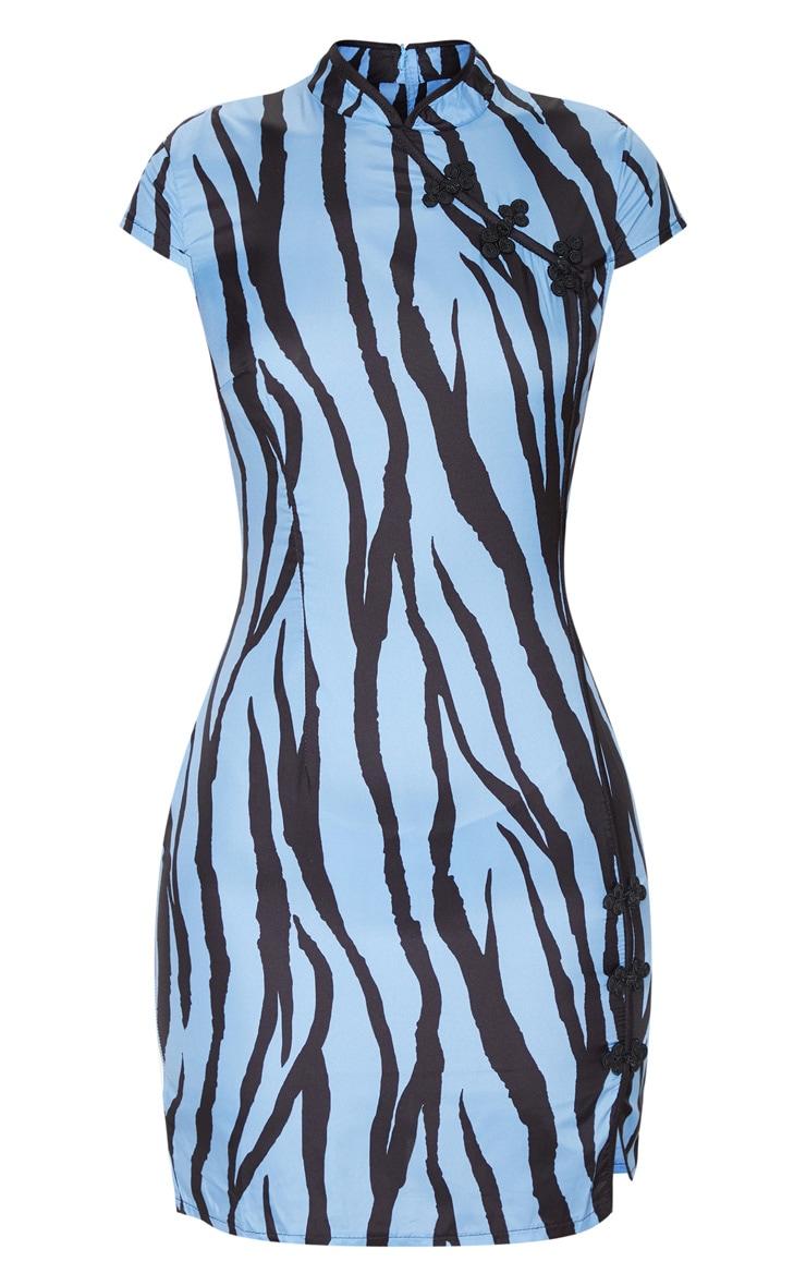 Blue Zebra Oriental Bodycon Dress 3