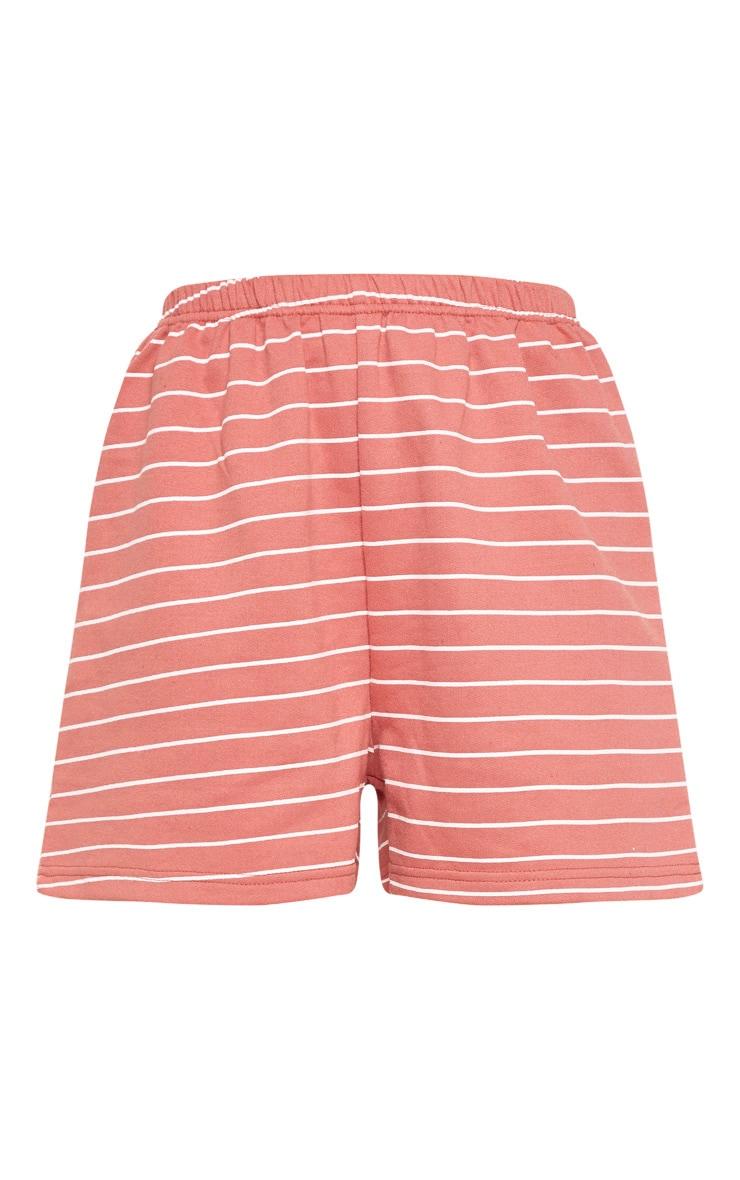 Terracotta Sweat Stripe Short 3