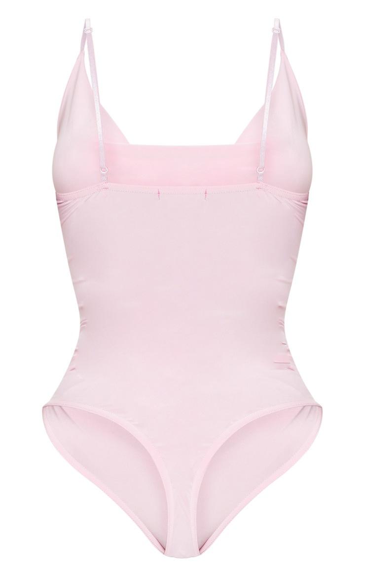Shape - Body moulant rose pâle à col bénitier 4