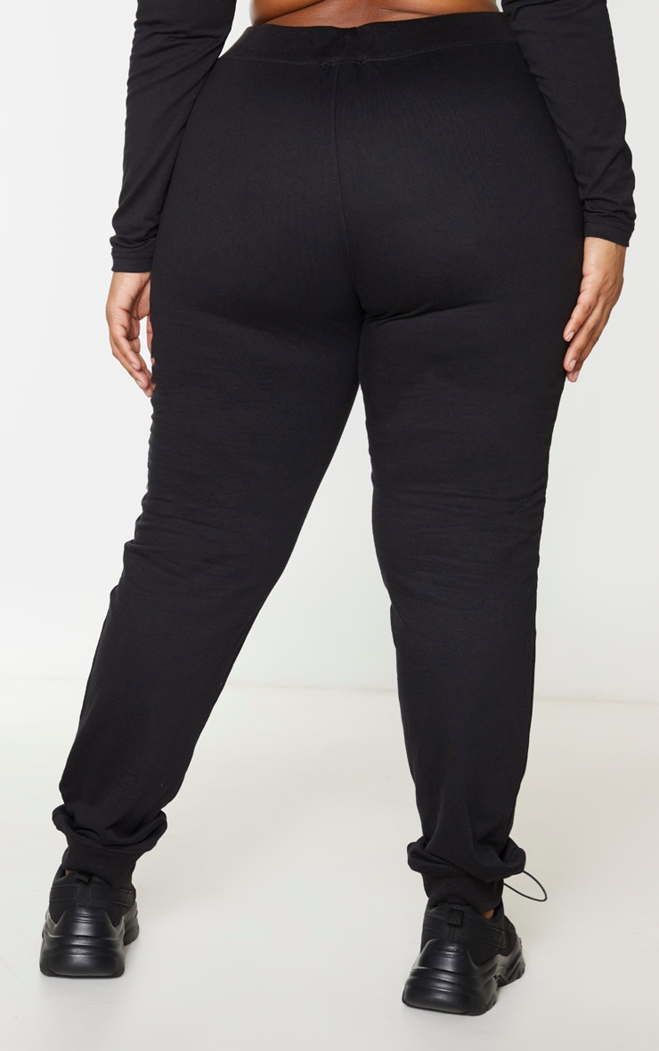 PRETTYLITTLETHING Plus Black Reflective Joggers 3