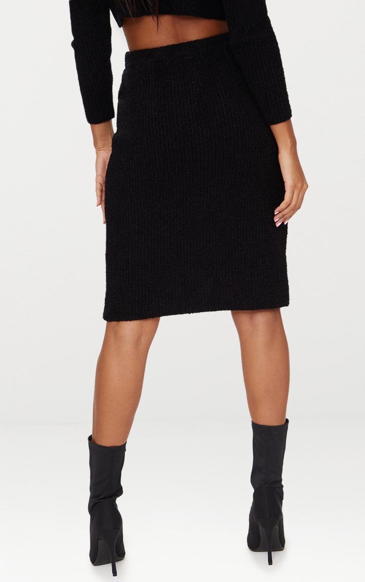 Black Boucle Knit Skirt 4