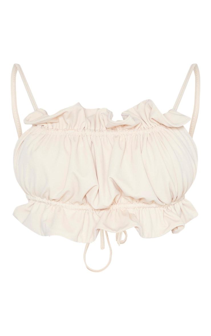 Nude Frill Bandeau Bikini Top 3