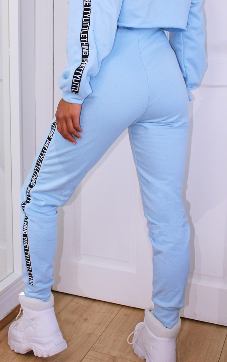 PRETTYLITTLETHING Petite Baby Blue Joggers 3