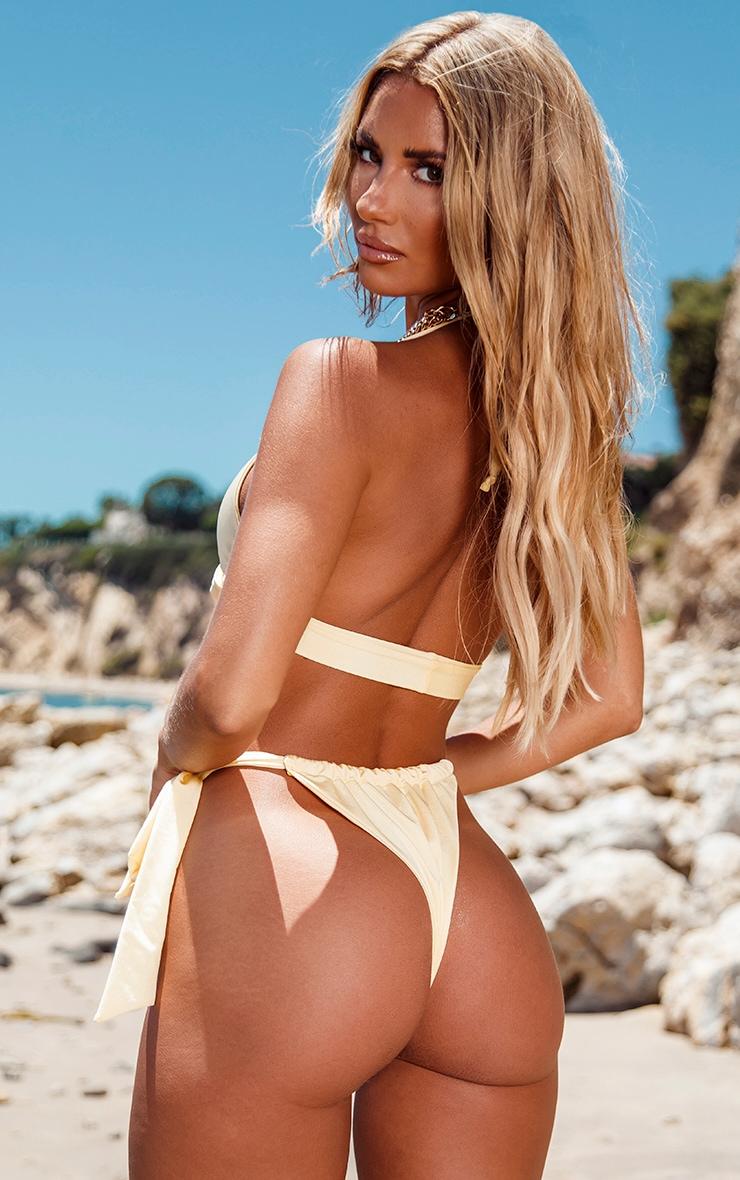 Lemon Bow Tie Side Bikini Bottoms 4