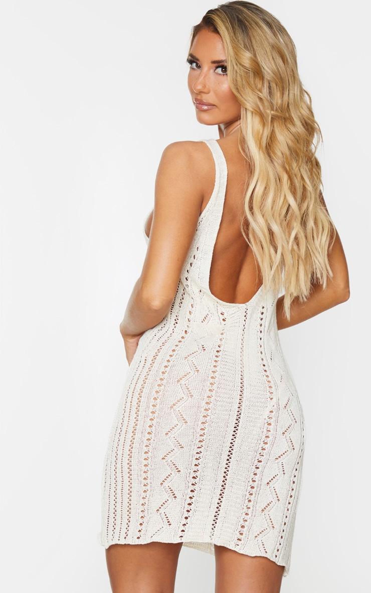 Stone Crochet Mini Beach Dress 2