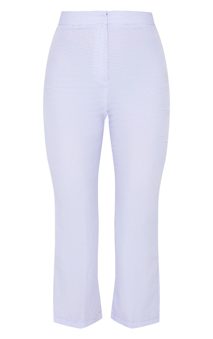 Lilac Gingham Straight Leg Crop Pants 5