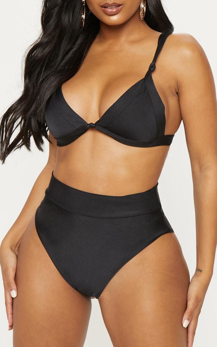 Shape Black Knot Front Bikini Top 5