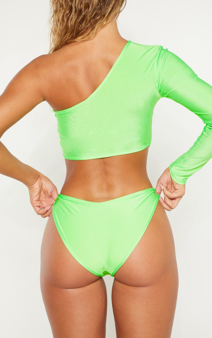 Lime V Front Full Coverage Bikini Bottom 4