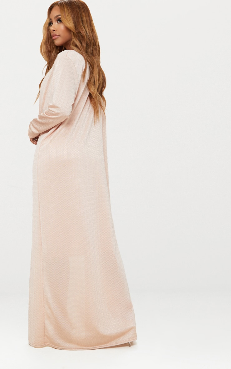 Shape Champagne Textured Duster Coat 2