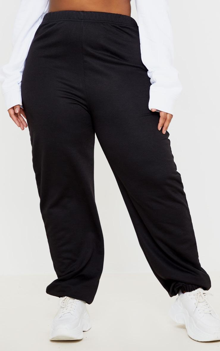 PLT Plus - Jogging noir basique à bas resserré 2