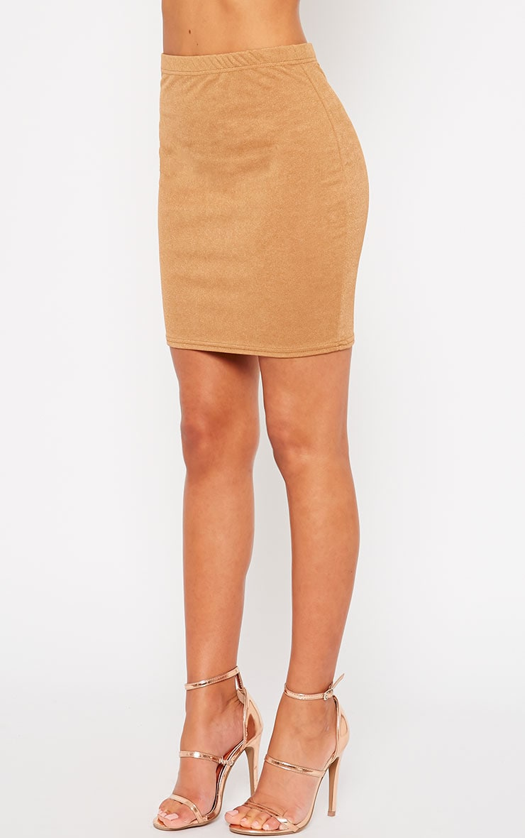 Emilia Camel Crepe Mini Skirt 3