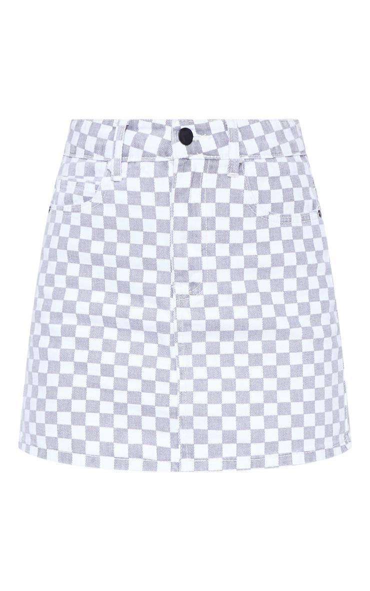 Monochrome Checkerboard Skirt  3