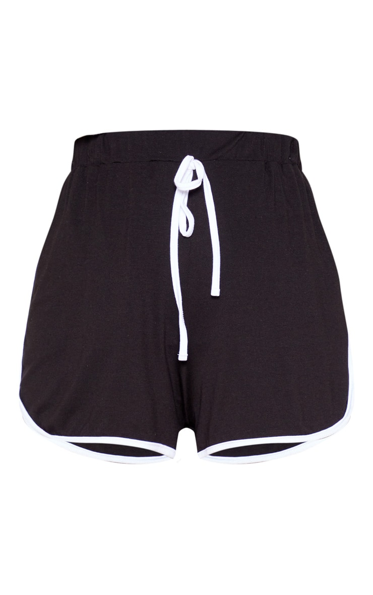 Black Double Side Stripe Runner Short 3