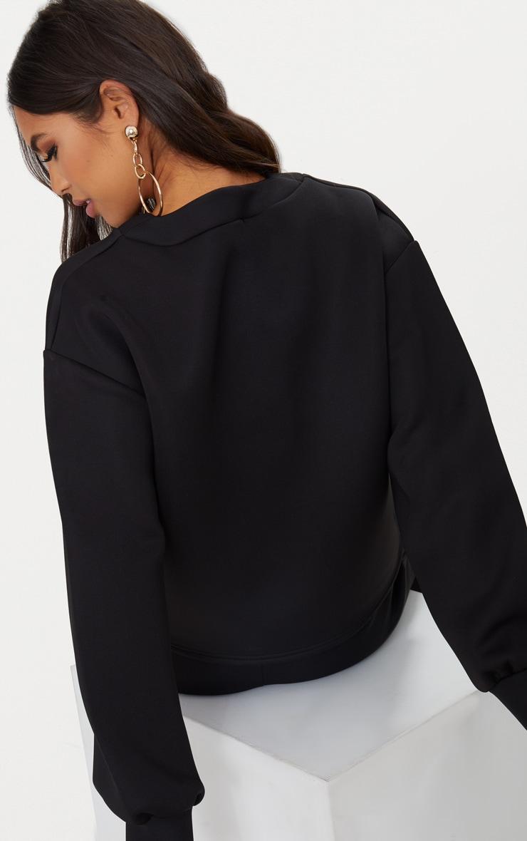 Black Scuba Boxy Sweater  2