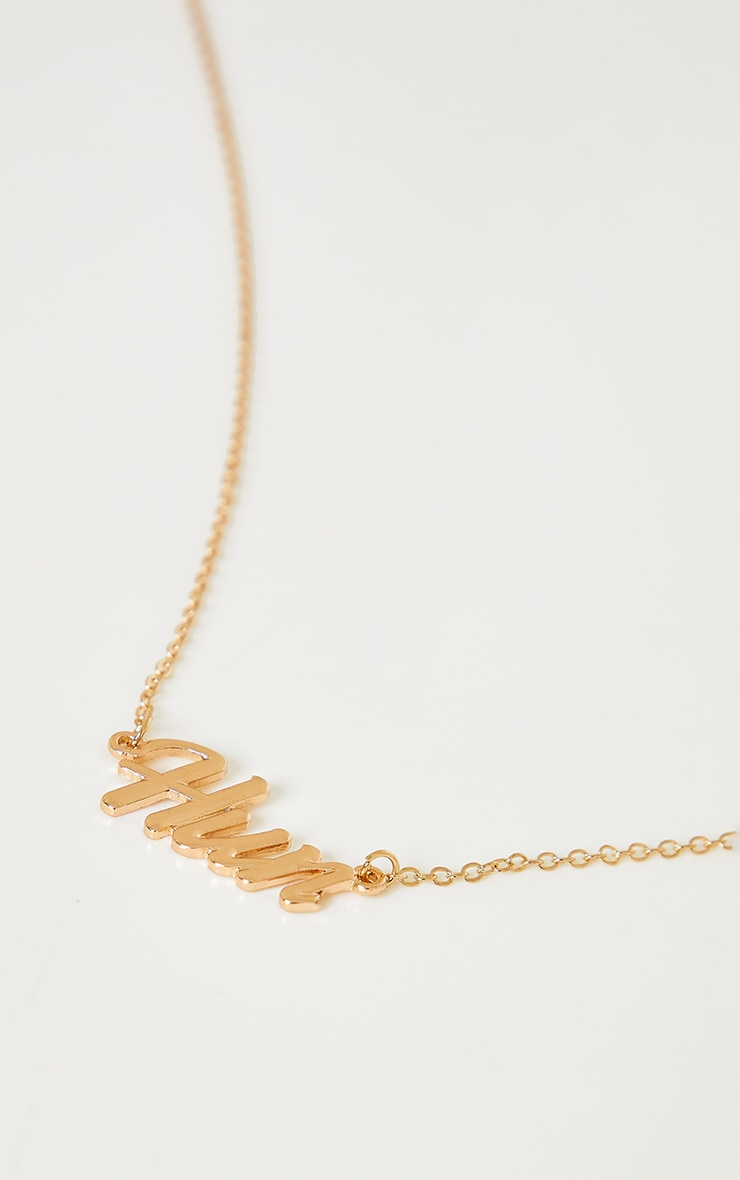 Gold Hun Necklace 4