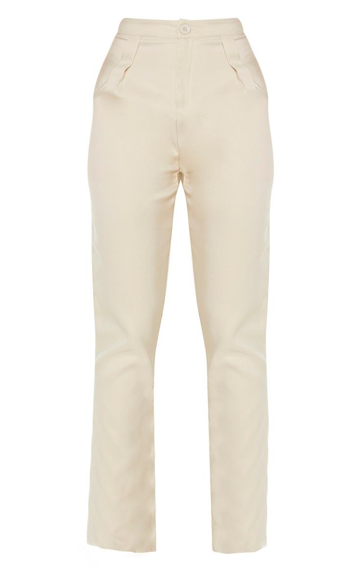 Tall Stone Pleat Detail Straight Leg Pants 3