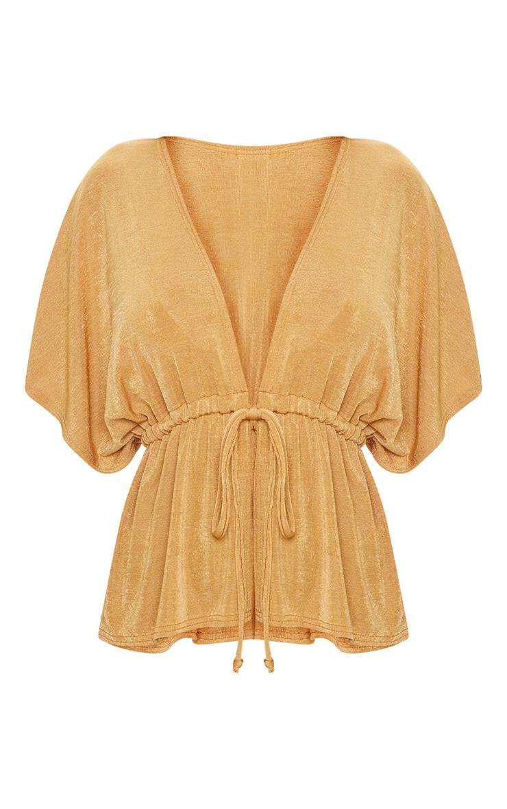 Gold Tie Waist Kimono Top 3