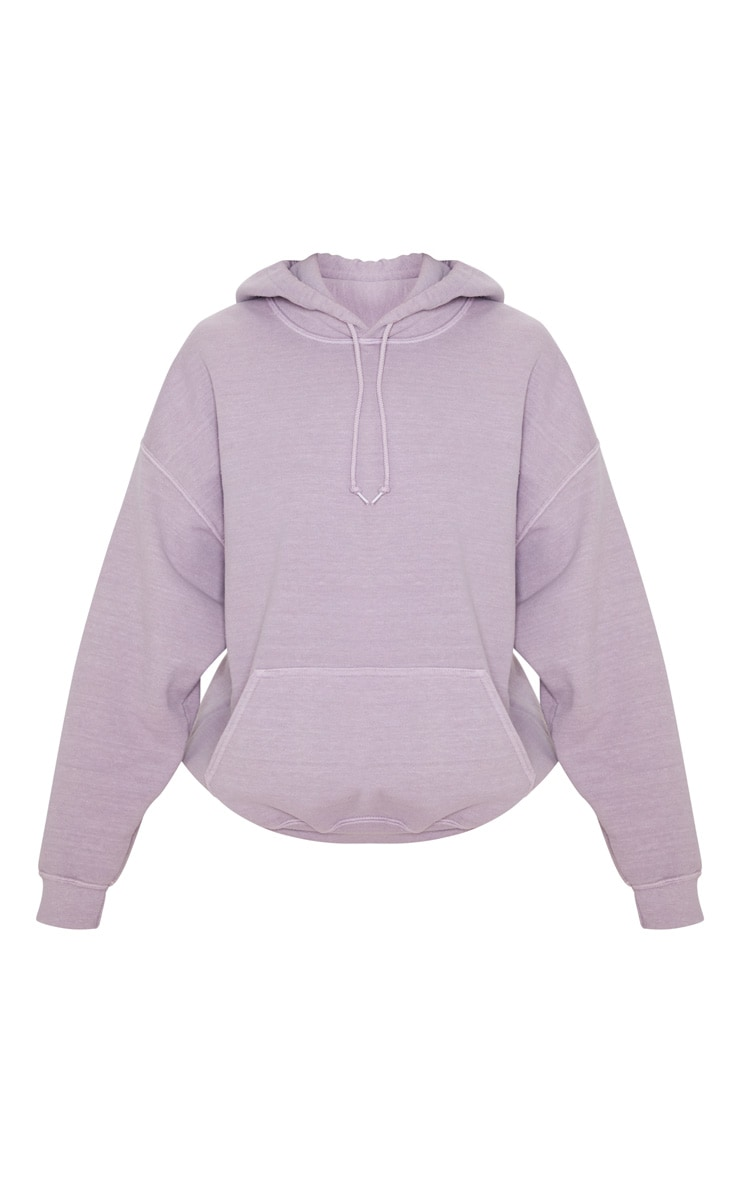 Lilac Washed Oversized Hoodie 3