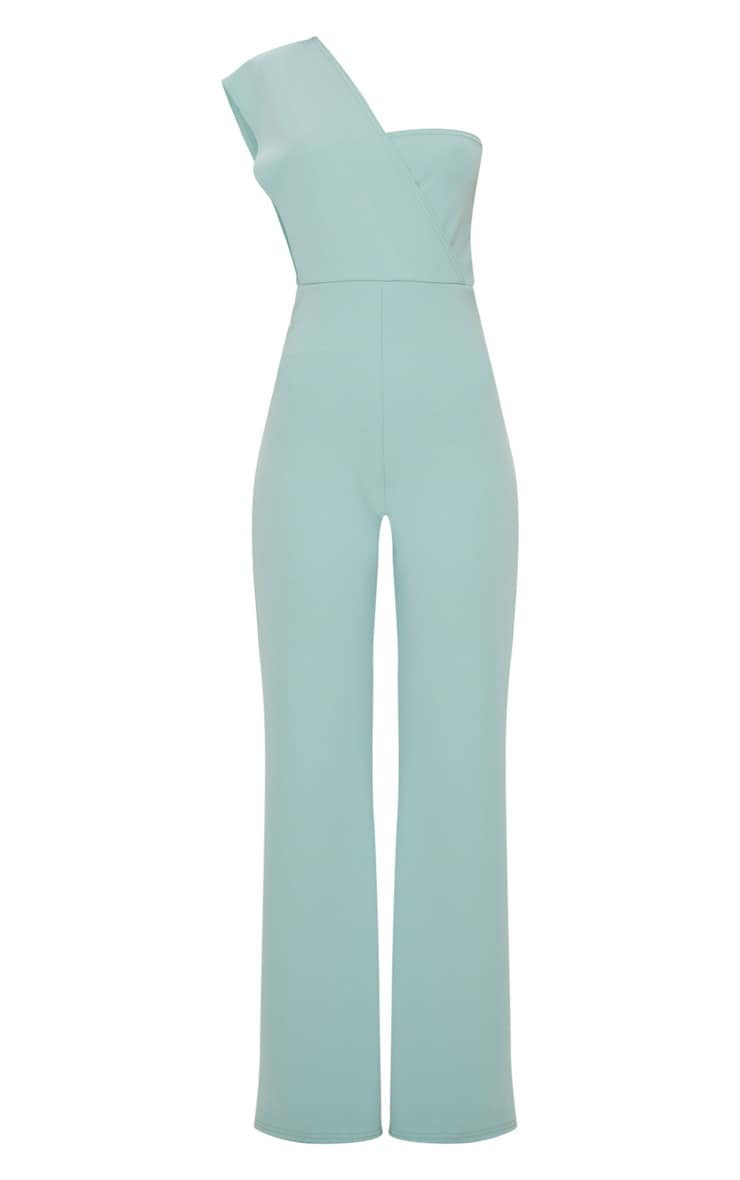Mint  Drape One Shoulder Jumpsuit 3