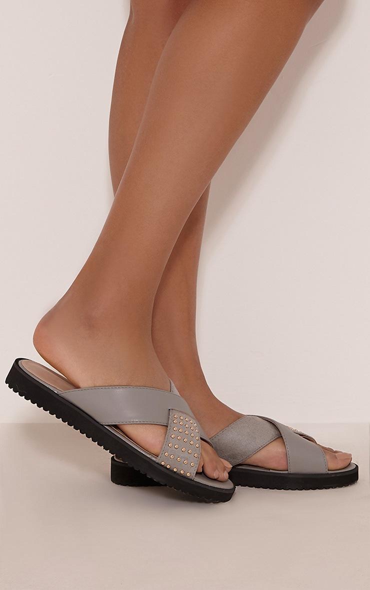 Aalia Grey Stud Detail Sliders 2