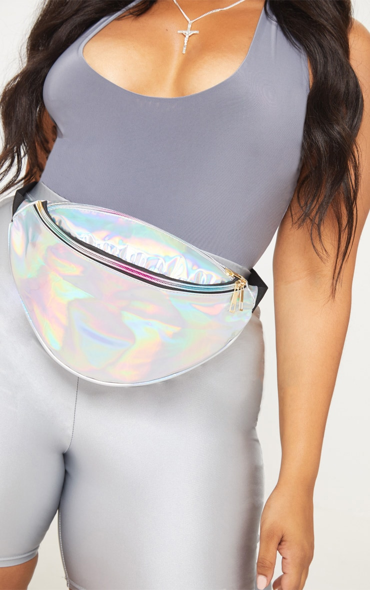 Plus Silver Holographic Bum Bag