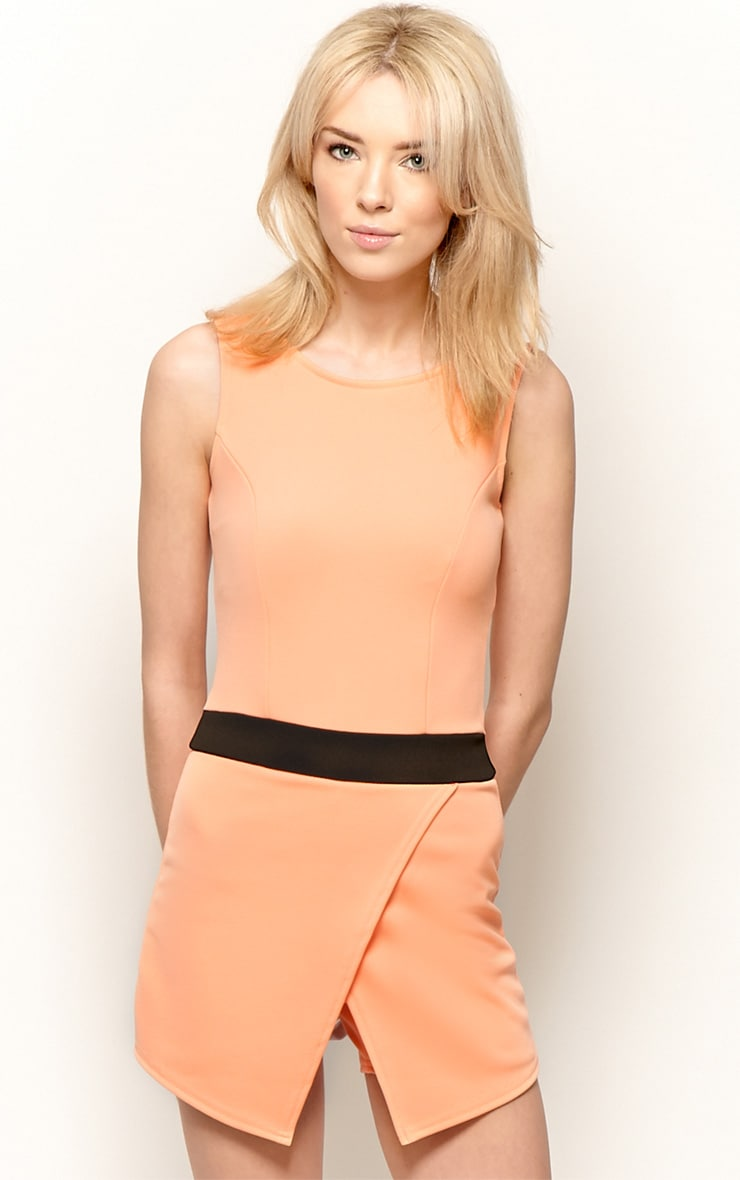 Tessie Orange Skort Playsuit 1