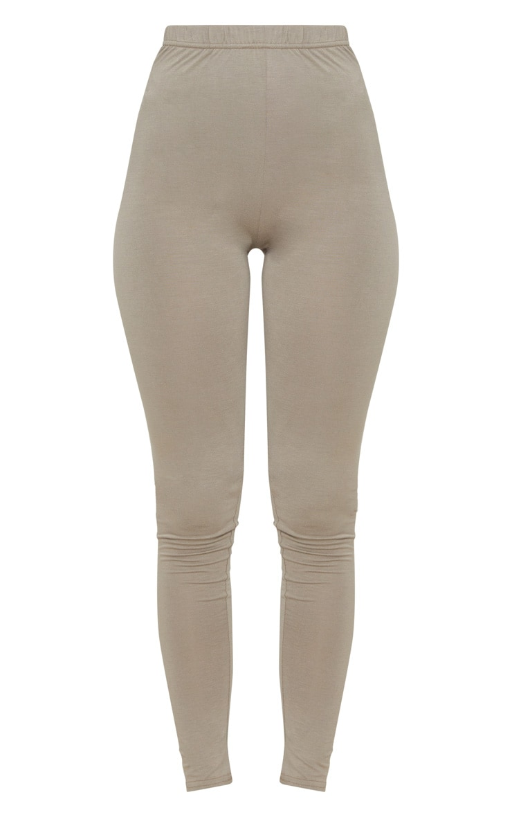 Charcoal Grey and Taupe Basic Jersey Legging 2 Pack 4