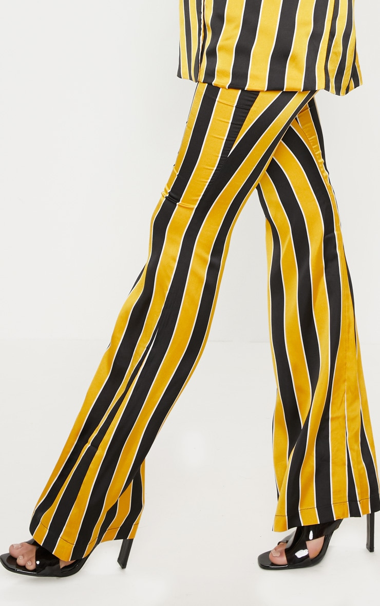 Yellow Stripe Straight Leg Trouser  5