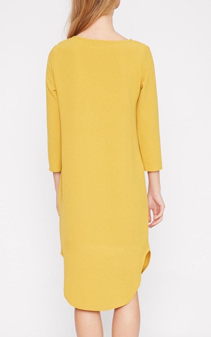 Camilla Mustard Crepe Shift Dress 2
