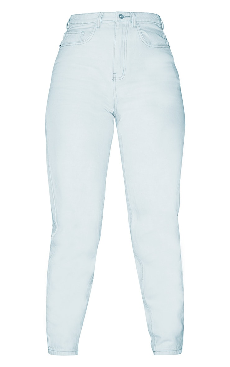 PRETTYLITTLETHING Bleach Wash Mom Jean 3