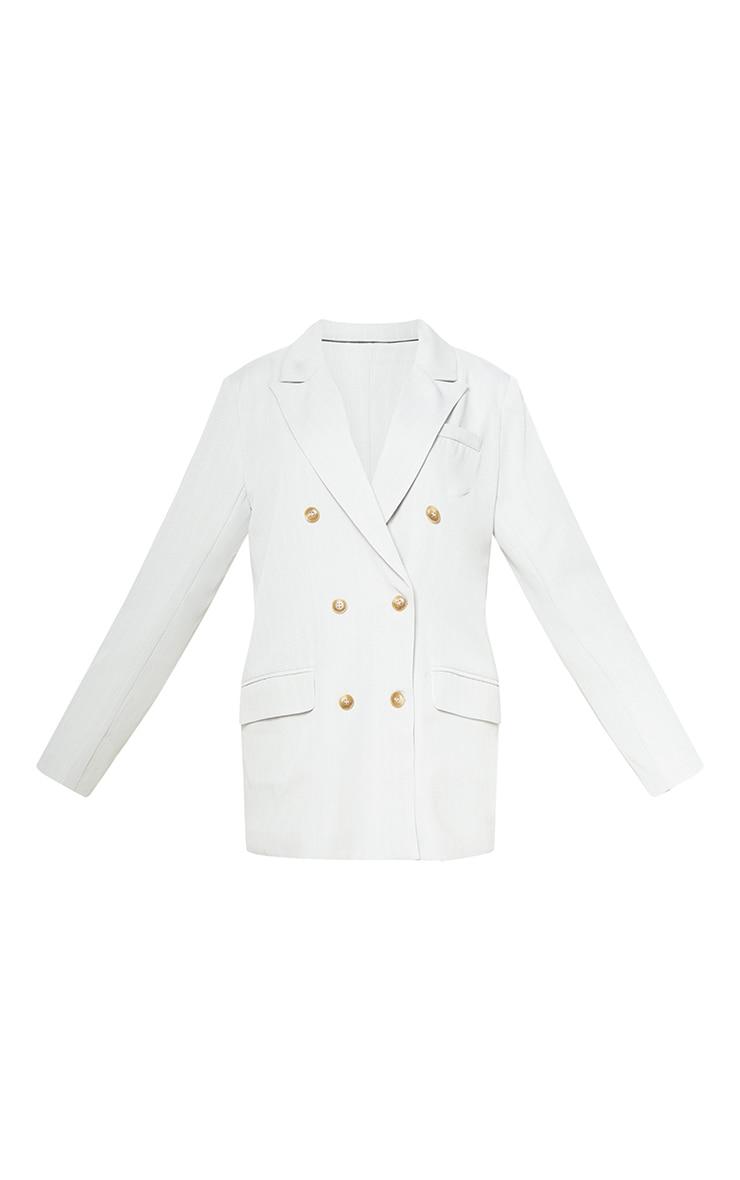Cream Tailored Woven Blazer 6