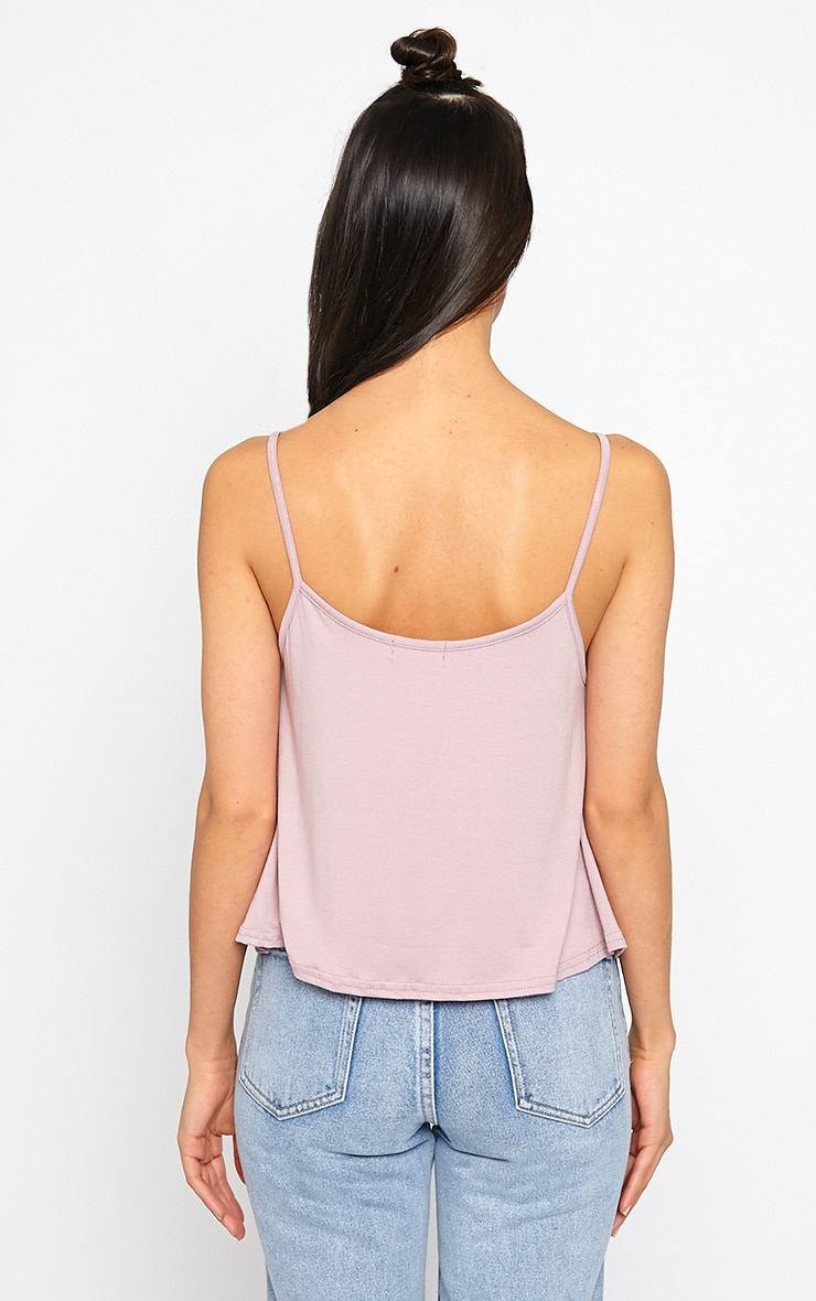 Basic Mauve Jersey Swing Cami Top 2