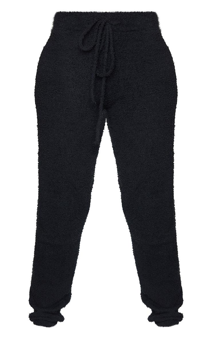 Shape Black Fluffy Knit Joggers 5