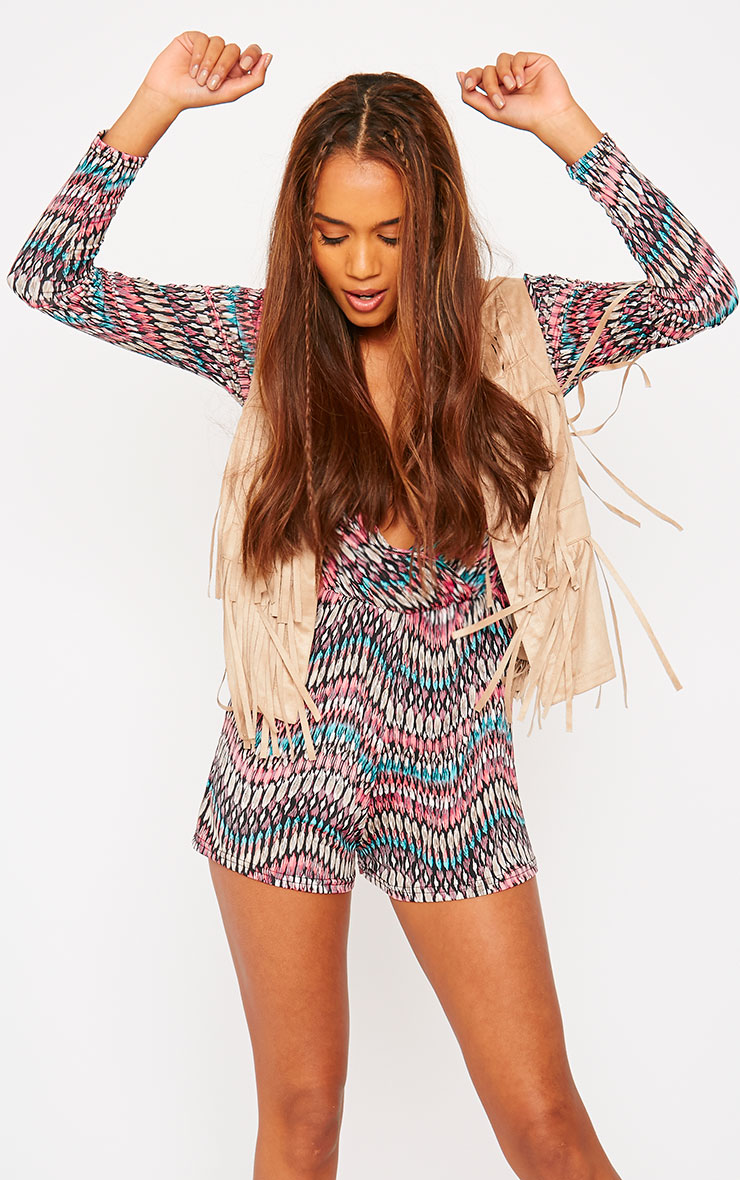 Neele Feather Print Playsuit 4