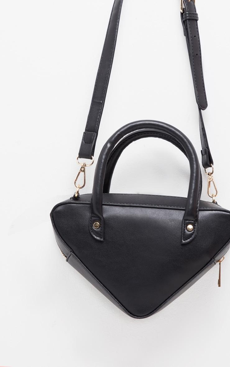 Black Triangle Shape Grab Bag  4