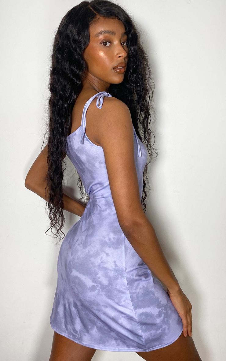Lilac Tie Dye Tie Strap Shift Dress 1
