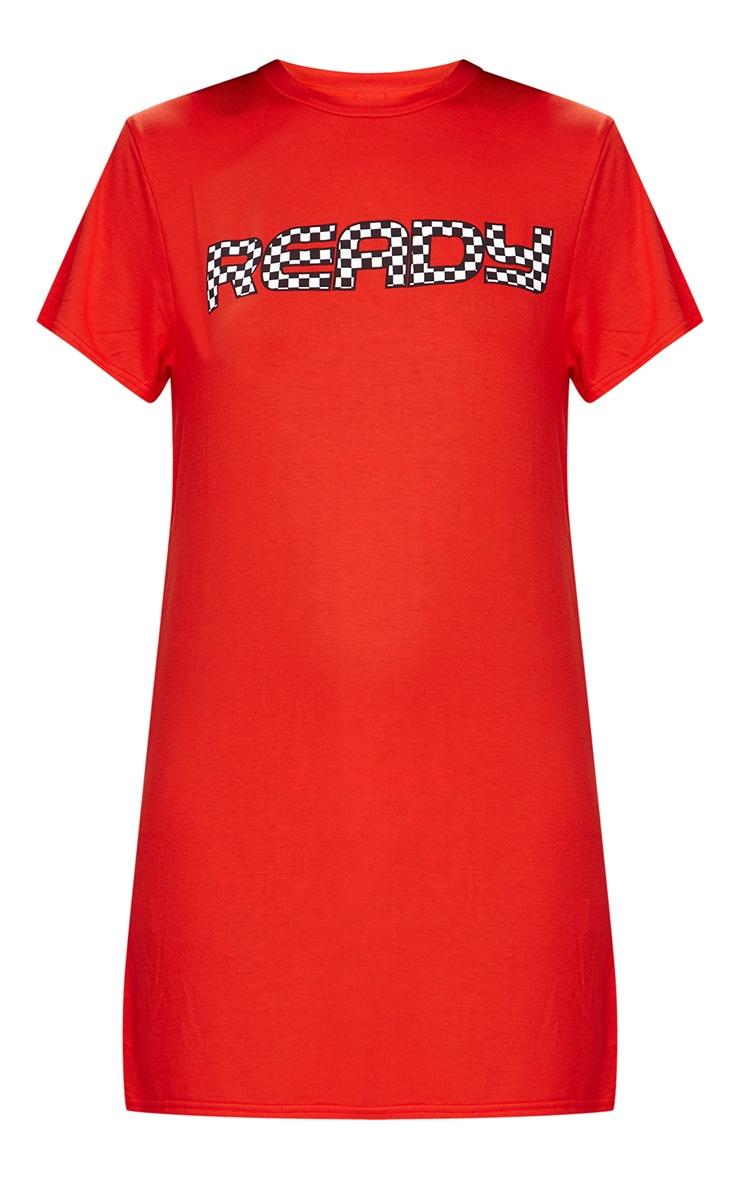 Ready Orange T Shirt Dress 3